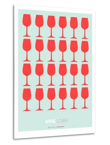 Wine Lover Red-NaxArt-Metal Print