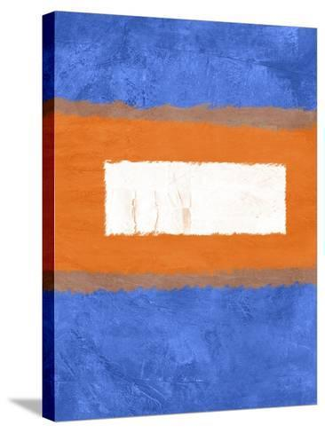 Blue and Orange Abstract Theme 1-NaxArt-Stretched Canvas Print