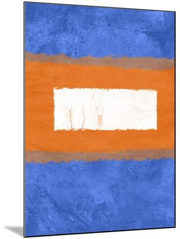Blue and Orange Abstract Theme 1-NaxArt-Mounted Art Print