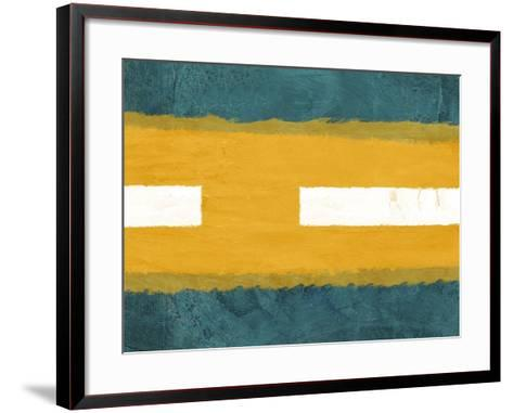 Green and Yellow Abstract Theme 1-NaxArt-Framed Art Print