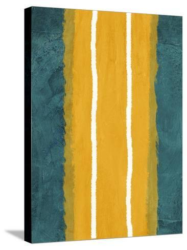 Green and Yellow Abstract Theme 2-NaxArt-Stretched Canvas Print