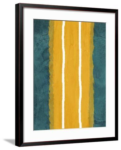 Green and Yellow Abstract Theme 2-NaxArt-Framed Art Print