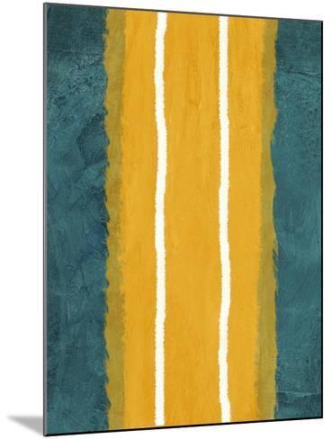 Green and Yellow Abstract Theme 2-NaxArt-Mounted Art Print