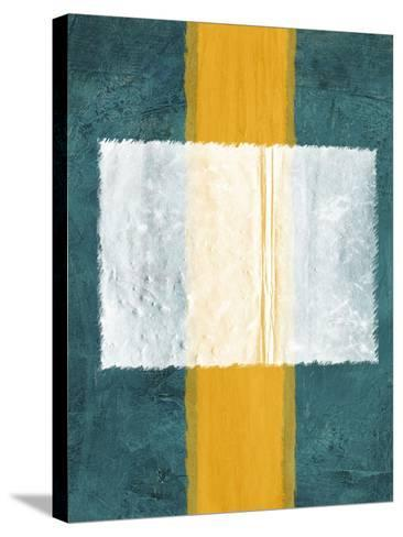 Green and Yellow Abstract Theme 3-NaxArt-Stretched Canvas Print