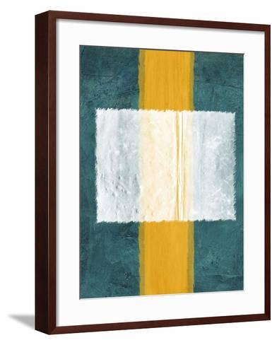 Green and Yellow Abstract Theme 3-NaxArt-Framed Art Print