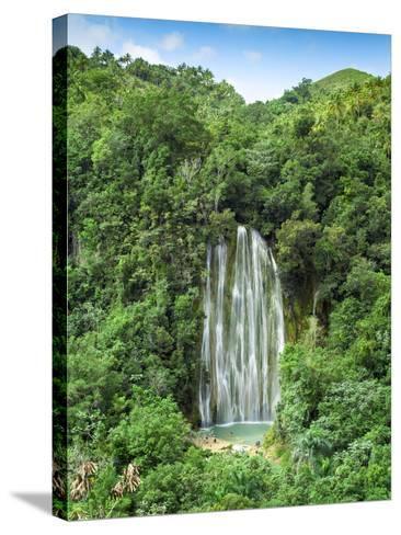 Dominican Republic, Eastern Peninsula De Samana, El Limon Waterfall-Jane Sweeney-Stretched Canvas Print