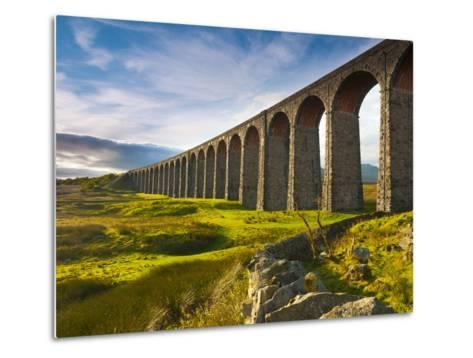 UK, England, North Yorkshire, Ribblehead Viaduct on the Settle to Carlisle Railway Line-Alan Copson-Metal Print