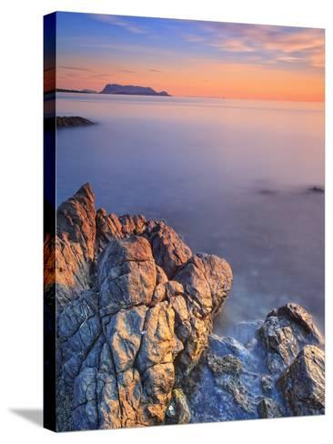 Italy, Sardinia, Olbia-Tempio District, Budoni, Coastline and Tavolara Island-Francesco Iacobelli-Stretched Canvas Print