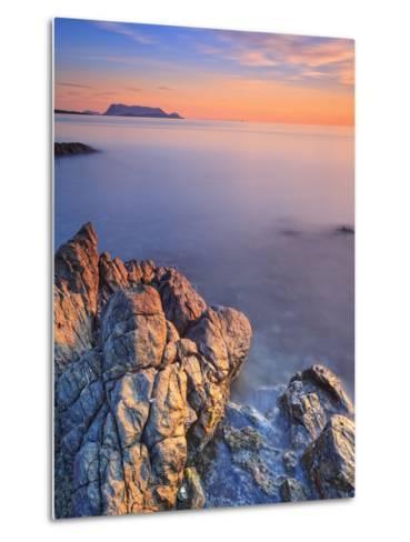 Italy, Sardinia, Olbia-Tempio District, Budoni, Coastline and Tavolara Island-Francesco Iacobelli-Metal Print