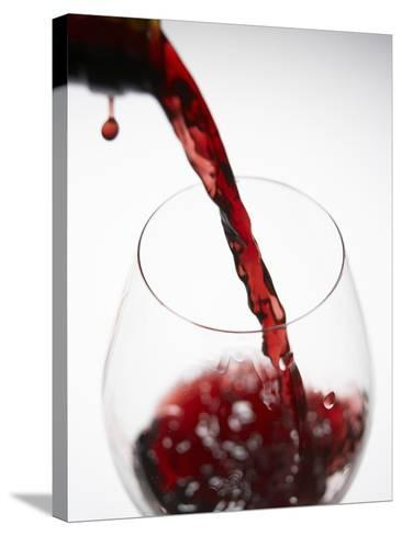 Pouring Red Wine-Joerg Lehmann-Stretched Canvas Print