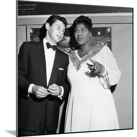 Mahalia Jackson, Eddie Fisher - 1955-Isaac Sutton-Mounted Photographic Print