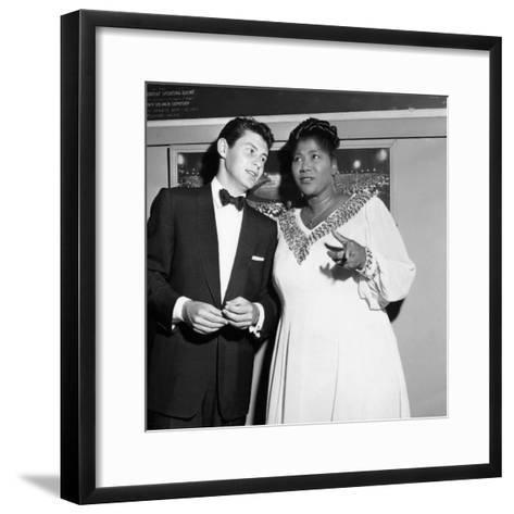 Mahalia Jackson, Eddie Fisher - 1955-Isaac Sutton-Framed Art Print