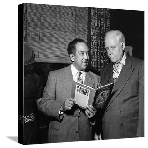 Langston Hughes, Carl Van Vechten-G. Marshall Wilson-Stretched Canvas Print
