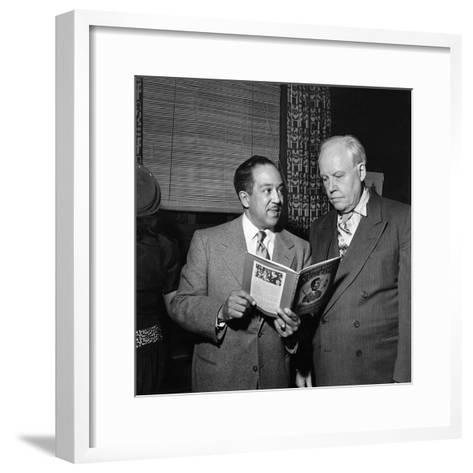 Langston Hughes, Carl Van Vechten-G. Marshall Wilson-Framed Art Print