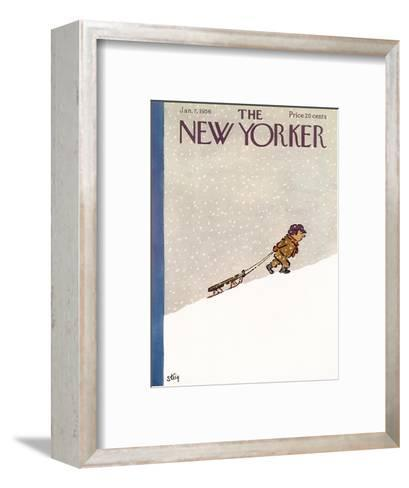 The New Yorker Cover - January 7, 1956-William Steig-Framed Art Print