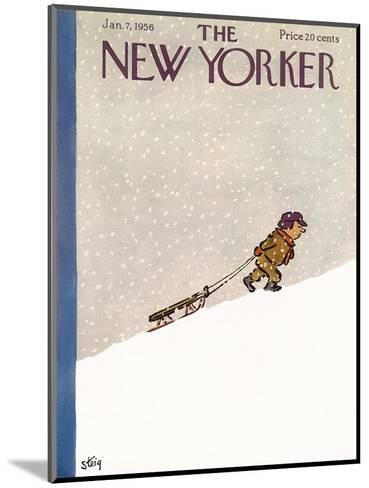 The New Yorker Cover - January 7, 1956-William Steig-Mounted Premium Giclee Print