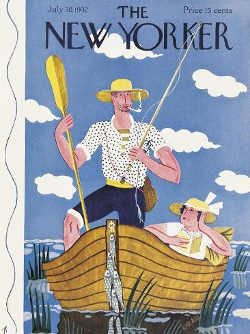 The New Yorker Cover - July 30, 1932-Ilonka Karasz-Stretched Canvas Print