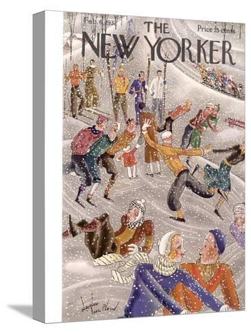 The New Yorker Cover - February 6, 1932-Constantin Alajalov-Stretched Canvas Print