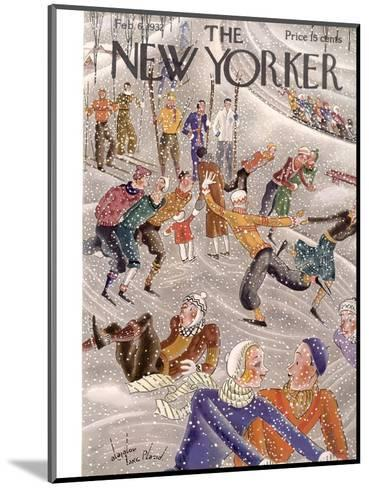 The New Yorker Cover - February 6, 1932-Constantin Alajalov-Mounted Premium Giclee Print