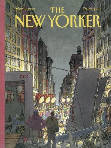 The New Yorker Cover - March 8, 1993-Roxie Munro-Stretched Canvas Print