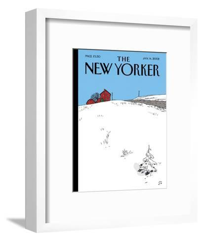 The New Yorker Cover - January 14, 2002-Jean Claude Floc'h-Framed Art Print