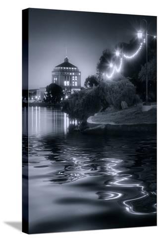 Sunset Lights at Lake Merritt-Vincent James-Stretched Canvas Print