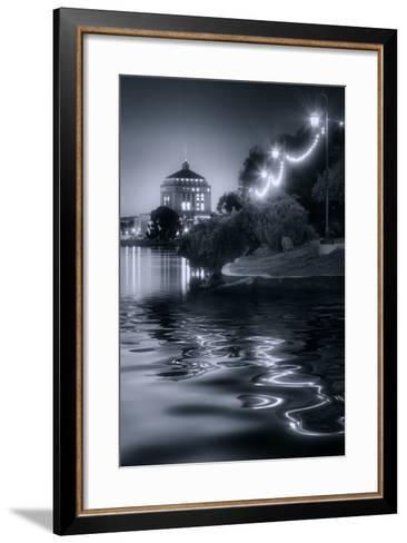 Sunset Lights at Lake Merritt-Vincent James-Framed Art Print