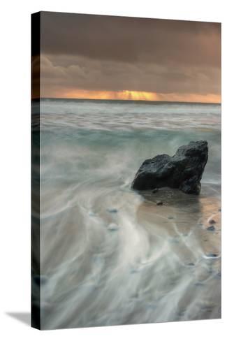Sunset Rock Seascape-Vincent James-Stretched Canvas Print