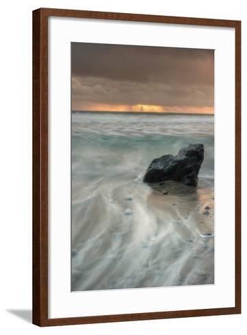 Sunset Rock Seascape-Vincent James-Framed Art Print