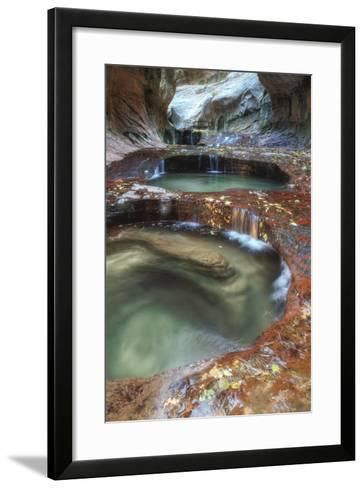 Subway Pools at Zion-Vincent James-Framed Art Print