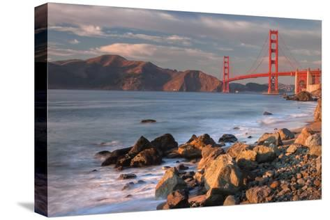 Late Afternoon, Baker Beach, San Francisco-Vincent James-Stretched Canvas Print