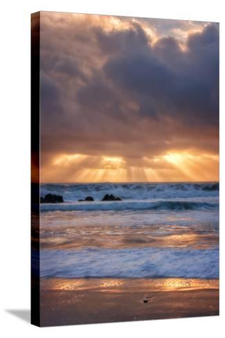 Shore Beams at Pfeiffer Beach-Vincent James-Stretched Canvas Print