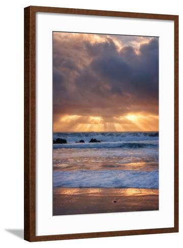 Shore Beams at Pfeiffer Beach-Vincent James-Framed Art Print