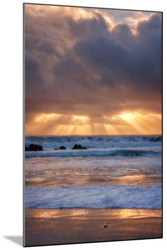 Shore Beams at Pfeiffer Beach-Vincent James-Mounted Photographic Print