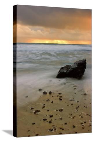 Sunset Rocks-Vincent James-Stretched Canvas Print