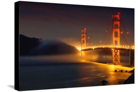 Bridge and Fog, San Francisco-Vincent James-Stretched Canvas Print