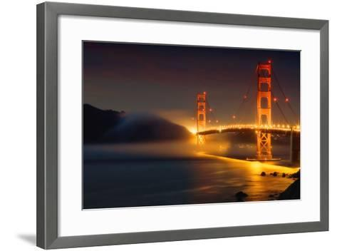 Bridge and Fog, San Francisco-Vincent James-Framed Art Print