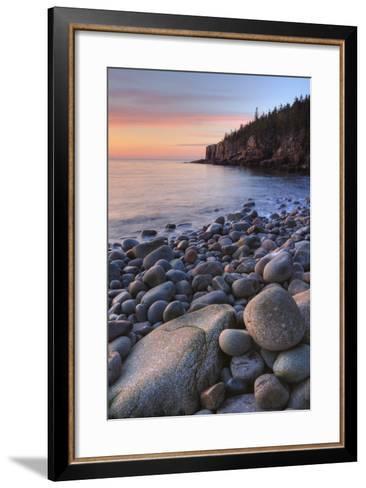Seascape at Monument Cove, Acadia-Vincent James-Framed Art Print