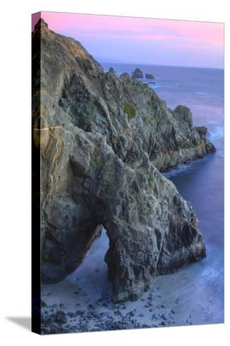 The Arch at Bodega Head-Vincent James-Stretched Canvas Print