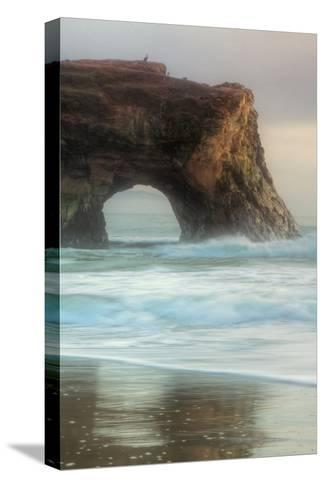 Natural Bridge Portrait, Santa Cruz-Vincent James-Stretched Canvas Print