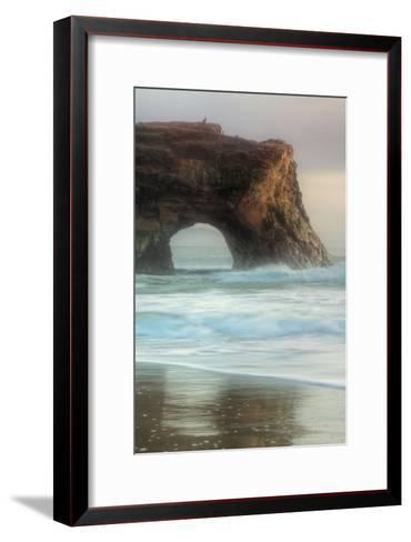 Natural Bridge Portrait, Santa Cruz-Vincent James-Framed Art Print