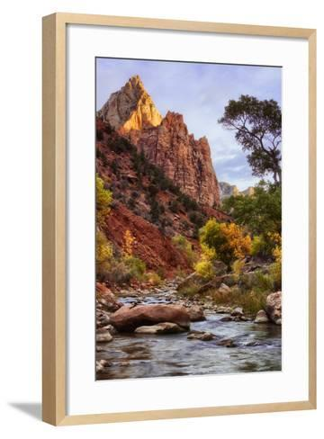 Morning Along the Virgin River-Vincent James-Framed Art Print