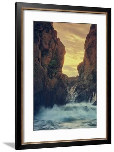 Cove Drama, Big Sur-Vincent James-Framed Art Print