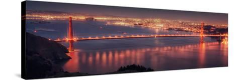 San Francisco Cityscape from the Marin Headlands-Vincent James-Stretched Canvas Print