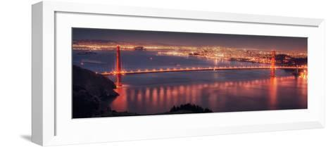 San Francisco Cityscape from the Marin Headlands-Vincent James-Framed Art Print