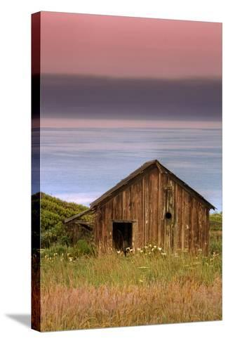 Sea Shack and Watermelon Sky-Vincent James-Stretched Canvas Print