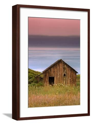 Sea Shack and Watermelon Sky-Vincent James-Framed Art Print