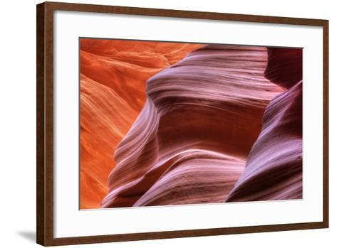Antelope Canyon Abstract - Tri Color-Vincent James-Framed Art Print