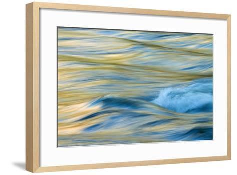 Late Afternoon Light and Merced River Abstract-Vincent James-Framed Art Print
