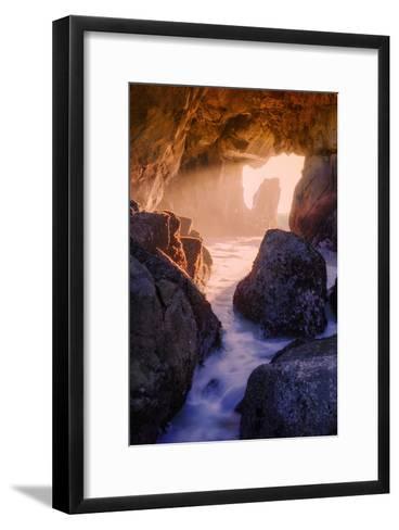 Light Through an Ocean Doorway-Vincent James-Framed Art Print